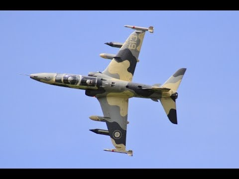 1/3.5 SCALE BAE HAWK 100 & 1/4 SCALE AERMACCHI MB-339 RC JETS DISPLAY AT LMA RAF TIBENHAM - 2017