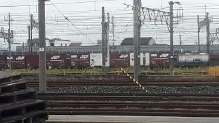 京都鉄道博物館でEF210形貨物列車の通過シーン(2019年10月14日月曜日)携帯電話で撮影