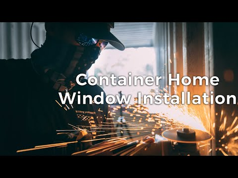 Build a DIY Shipping Container Home Step by Step | Ep. 2 Window Installation