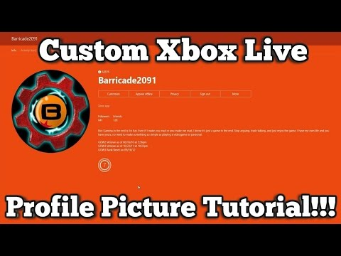 Xbox Live Custom Profile Picture Tutorial Youtube