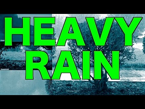 12 Hours of Heavy Pouring Rain and Thunder Sounds |  Tropical Storm Heavy Winds and Thunderstorm