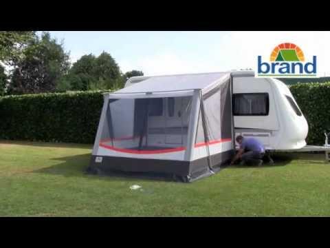 aufbau brand wohnwagen vorzelt xpress avanti youtube. Black Bedroom Furniture Sets. Home Design Ideas
