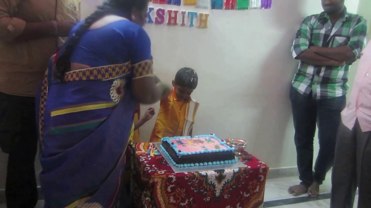 Dakshith Third Birthday With Motu Patlu Cake Youtube