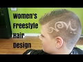 Simple Women's Freestyle Hair Design
