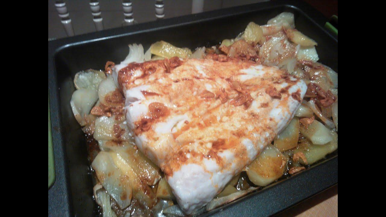 Pescado al horno receta de cocina cocina facil youtube for Videos de cocina facil
