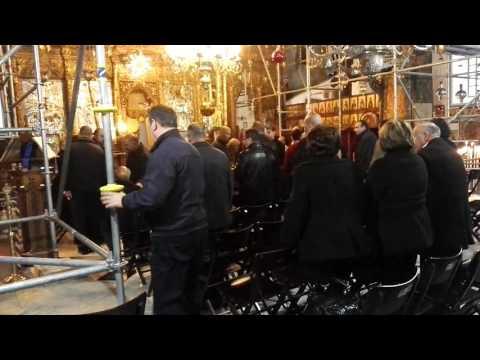 A sad story: A Greek Orthodox funeral at the Church of the Nativity, Bethlehem