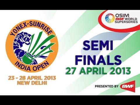 SF - WS - Pusarla Venkata Sindhu vs Ratchanok Intanon - 2013 Yonex-Sunrise India Open