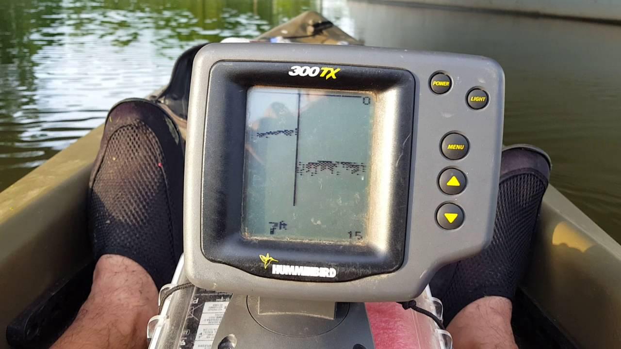 Hummingbird 300tx kayak fish finder sun dolphin journey for Hummingbird fish finders