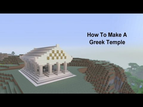 Minecraft - How to Build a Greek Temple (Olympus)