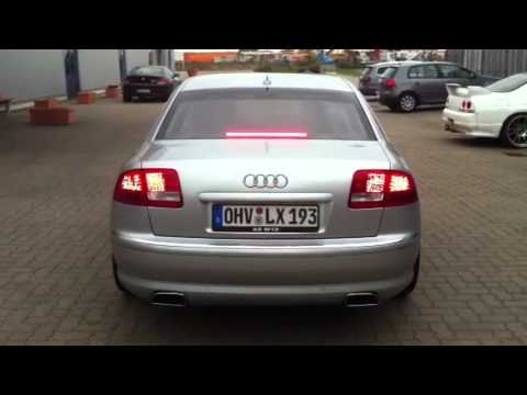 audi a8 d3 w12 mit supersport exhaust edition youtube. Black Bedroom Furniture Sets. Home Design Ideas