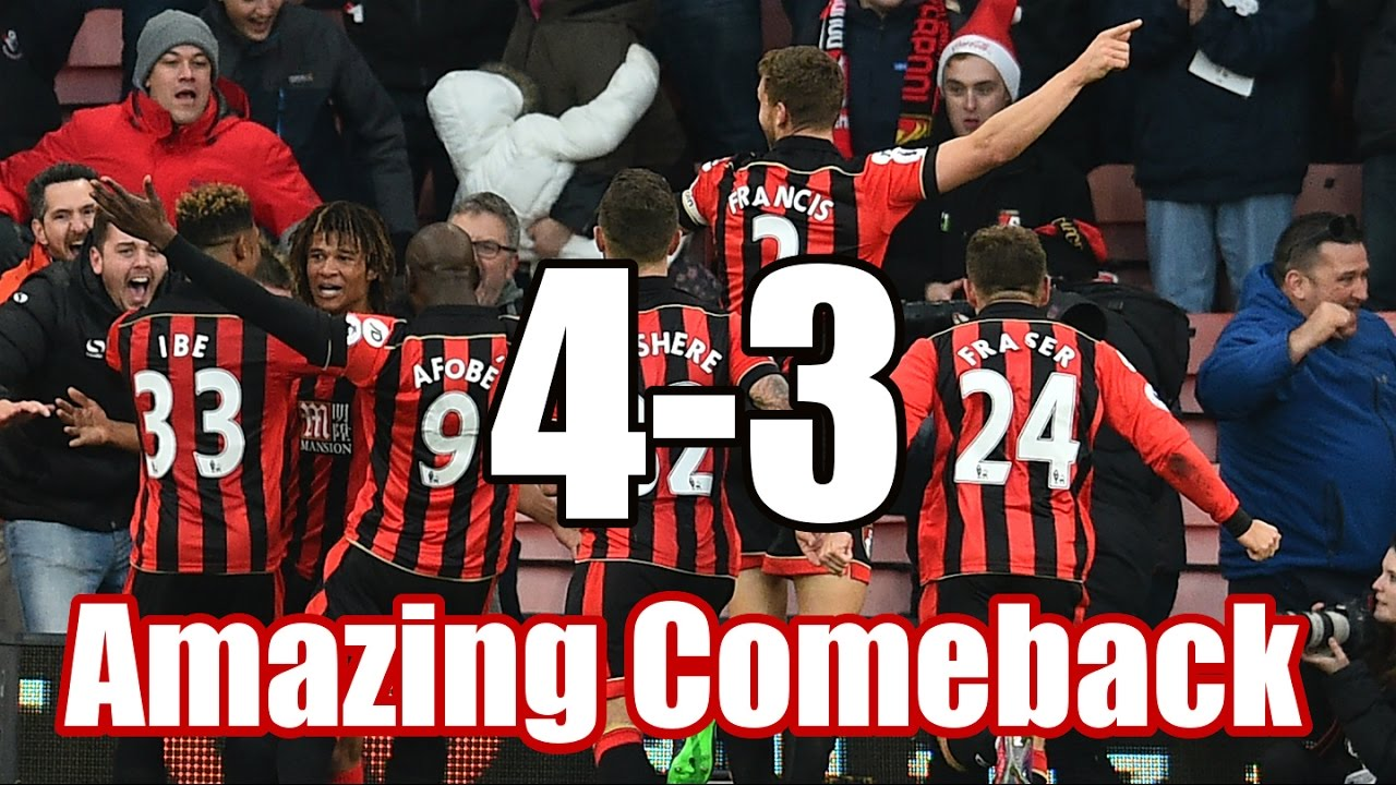Download Bournemouth vs Liverpool 4-3 All Goals Extended Highlights AMAZING Comeback 04/12/2016