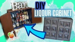 I bought this old cabinet at my local goodwill for $7 and restored it to this amazing liquor cabinet. It was very time consuming but well