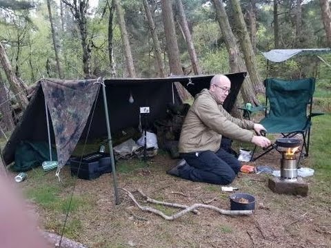 German Army Basha  Wild Camping - Old Farts in the Wild