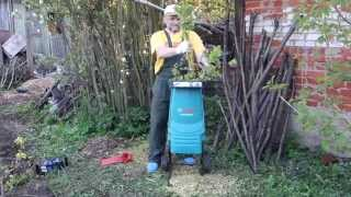 видео Садовый измельчитель BOSCH axt rapid 2000