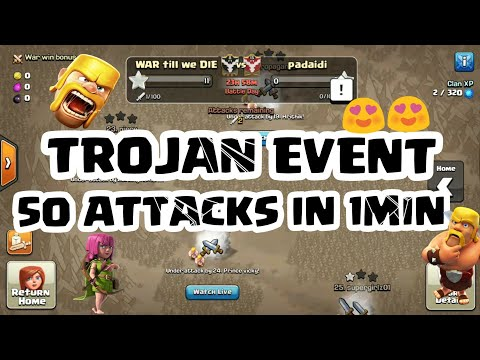 TROJAN WAR EVENT😍🇮🇳 50ATTACKS IN 1 MIN - DID WE TOUCH 100 STAR??