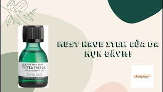 Review Tinh dầu trị mụn – kháng khuẩn Tea Tree Oil The Body Shop