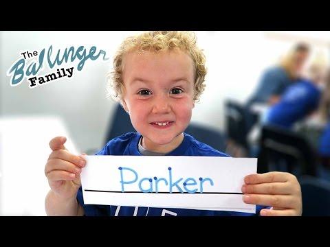 Parker's First Day of PreSchool