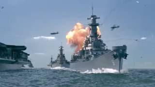 Грандиозные морские бои!!! Корабли второй мировой войны в морских сражениях!