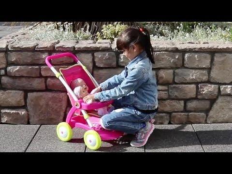 Baby Born Baby Annabell & Dolls pram stroller Nursery Toys Little girl pretend play with baby Dolls