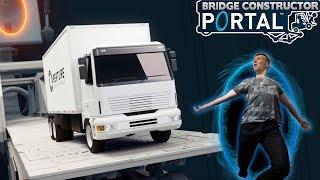 Kør bilen gennem PORTALEN! - Bridge Constructor Portal - Ep 1