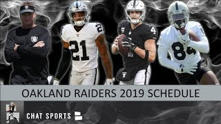 Raiders 2019 Schedule: Breaking Down Opponents, Game Previews & Predictions For NFL Regular Season