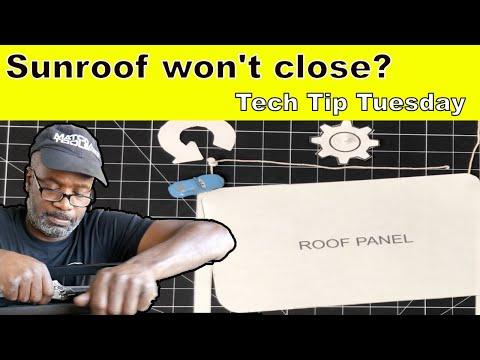 Sunroof won't close?