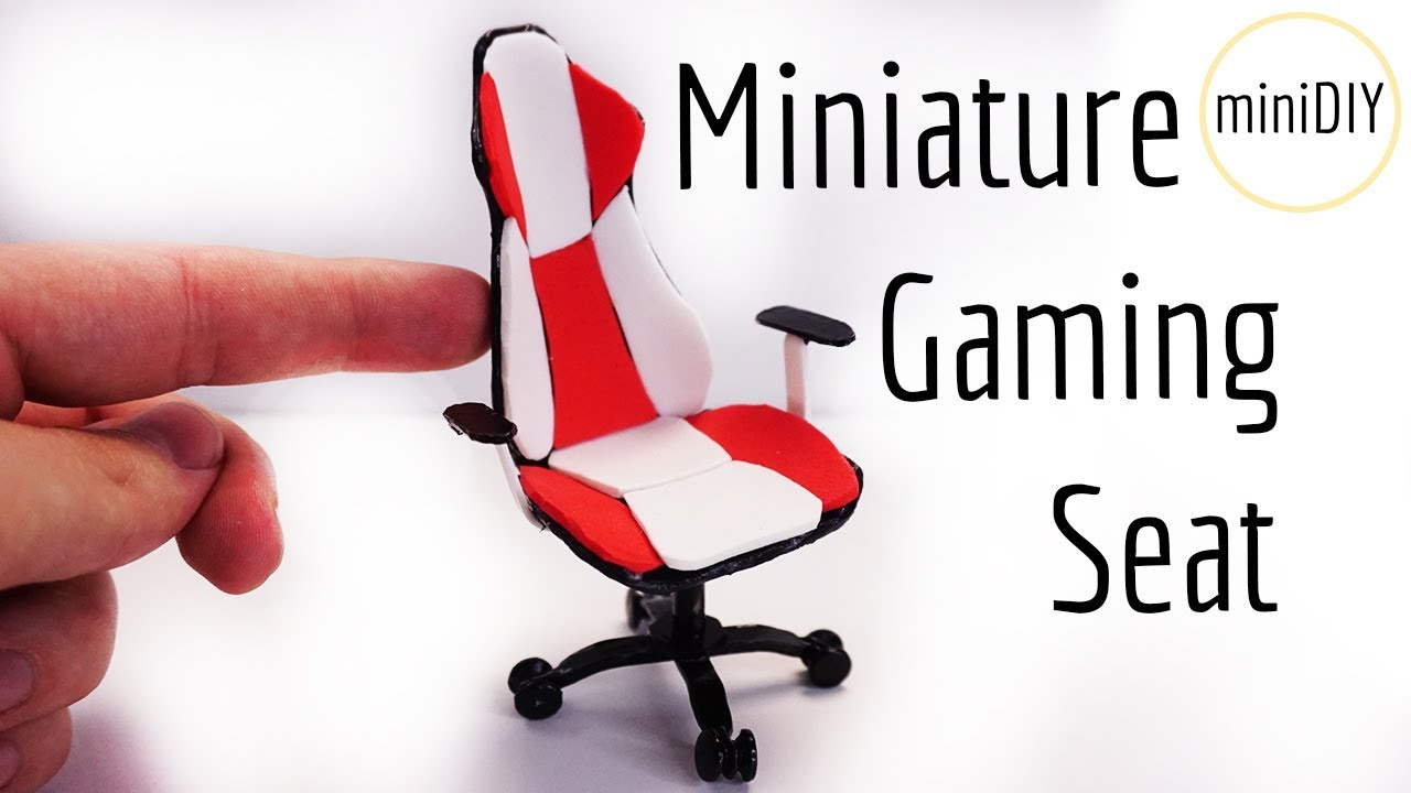 DIY Miniature Gaming Seat / Chair | DollHouse | miniDIY ...