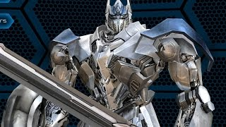 Transformers: Age of Extinction - Unlocking SILVER KNIGHT Optimus Prime Autobot