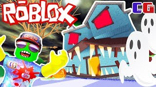 SCARY haunted house! Perilous adventure Cartoon hero Roblox on Halloween from Cool GAMES