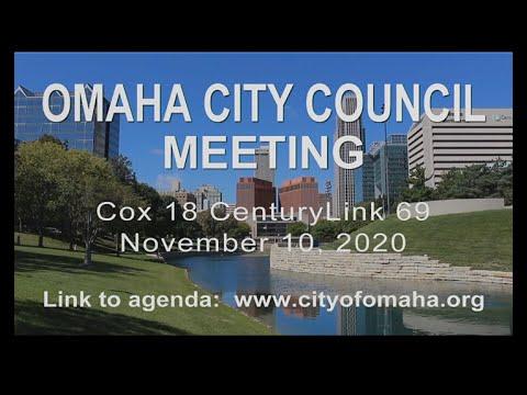 Omaha Nebraska City Council meeting November 10, 2020