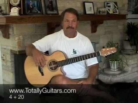Crosby, Stills, Nash, Young CSNY - 4 + 20 (guitar lesson)
