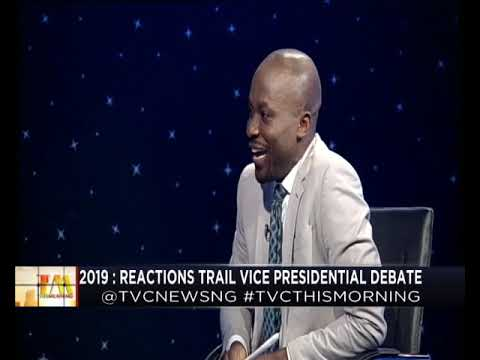This Morning 17th December 2018 | Reactions trail Vice Presidential Debate