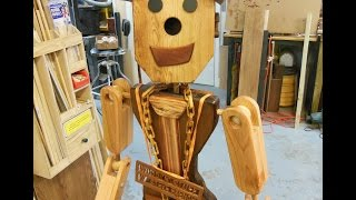 "Awesome Life-sized Wooden Robot: How I Made ""chip"""