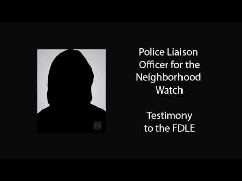 Discovery: Testimony of Police Liaison Officer for Neighborhood Watch