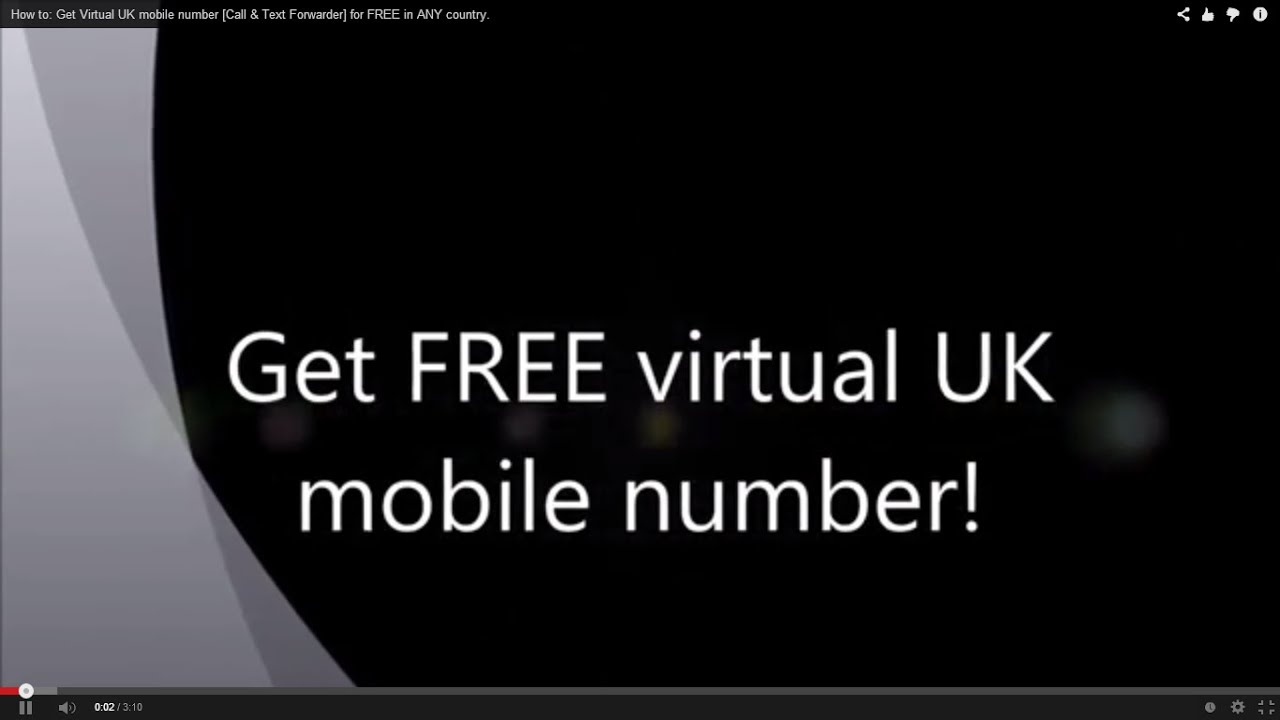 How to create a virtual mobile number for SMS reception