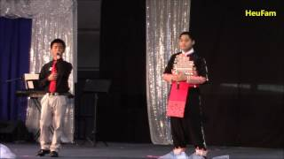 Sacramento Hmong New Year 2016 - 2017:Singing  Round 2 Duet - Nathan Vang and Kevin Hawj
