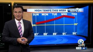 Saturday night weathercast on Newschannel 5 at 11