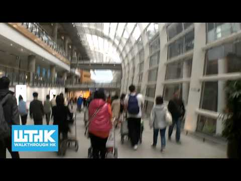 How to walk from HK Airport Arrival Hall A to the Bus stops - Walkthrough HK