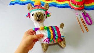LLamita  Feliz Tejida a crochet Paso a paso