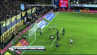 Gol de Funes Mori. Boca 1 vs. River 2. Fecha 10. Torneo Final 2014. FPT