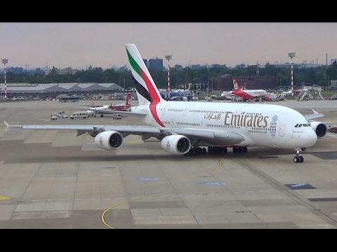 Emirates A380 Düsseldorf Airport || A6-EEY