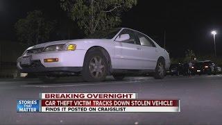 Car theft victim tracks down stolen vehicle