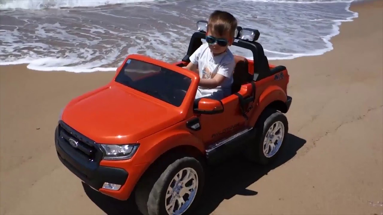12V Ford Ranger F150 - real rubber tyres-Licensed | Kids Electric