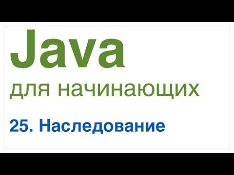 Java для начинающих. Урок 25: Наследование