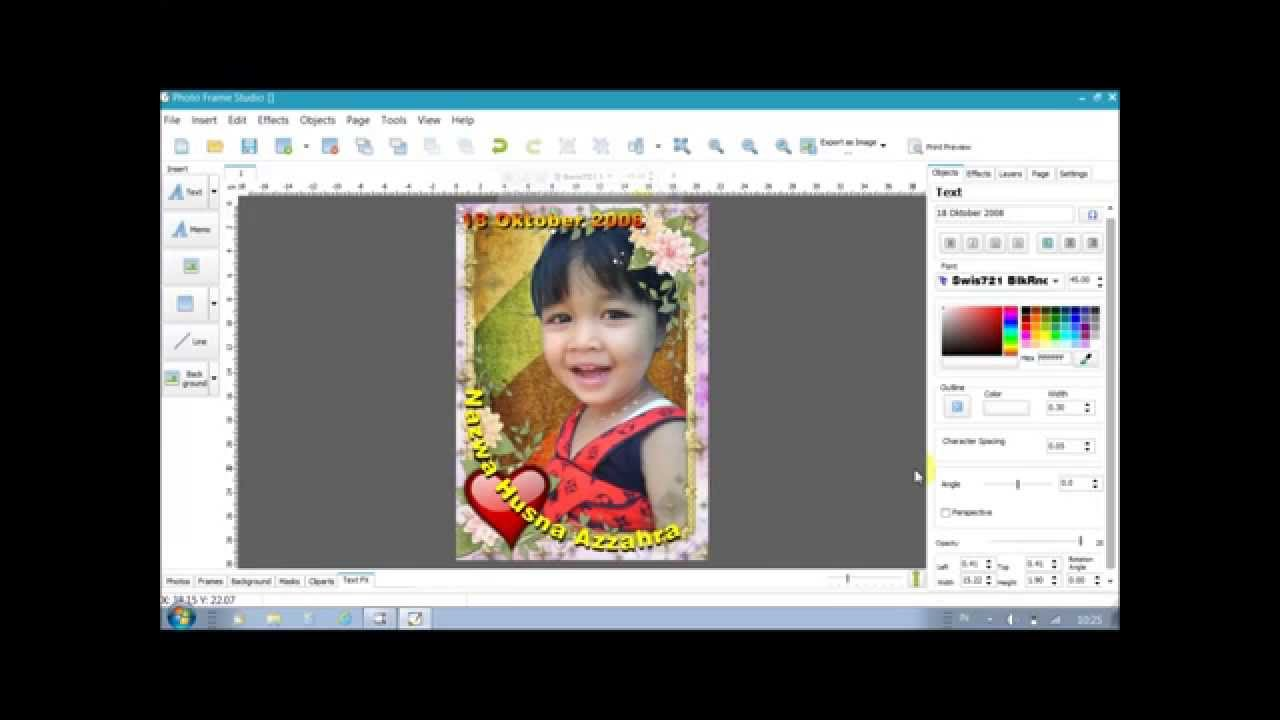 Photo editing software background frame and text Free photo editing programs
