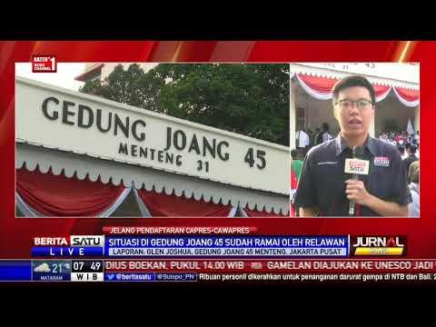 Gedung Joang 45 Dipadati Relawan Pendukung Jokowi-Ma'ruf Amin