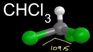 chcl3 molecular geometry shape and bond angles