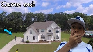 FLYING MY DRONE OVER A SERIAL KILLERS HOUSE! *SO INSANE*