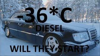 Extreme DIESEL car cold start compilation #7 -40 Siberia | Odpalanie diesla na silnym mrozie