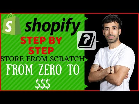 Shopify Tutorial For Beginners | How to Set Up a Profitable Shopify Store Step by Step 2019 thumbnail